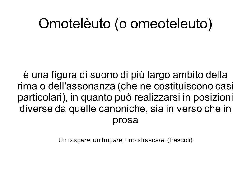 Omotelèuto (o omeoteleuto)