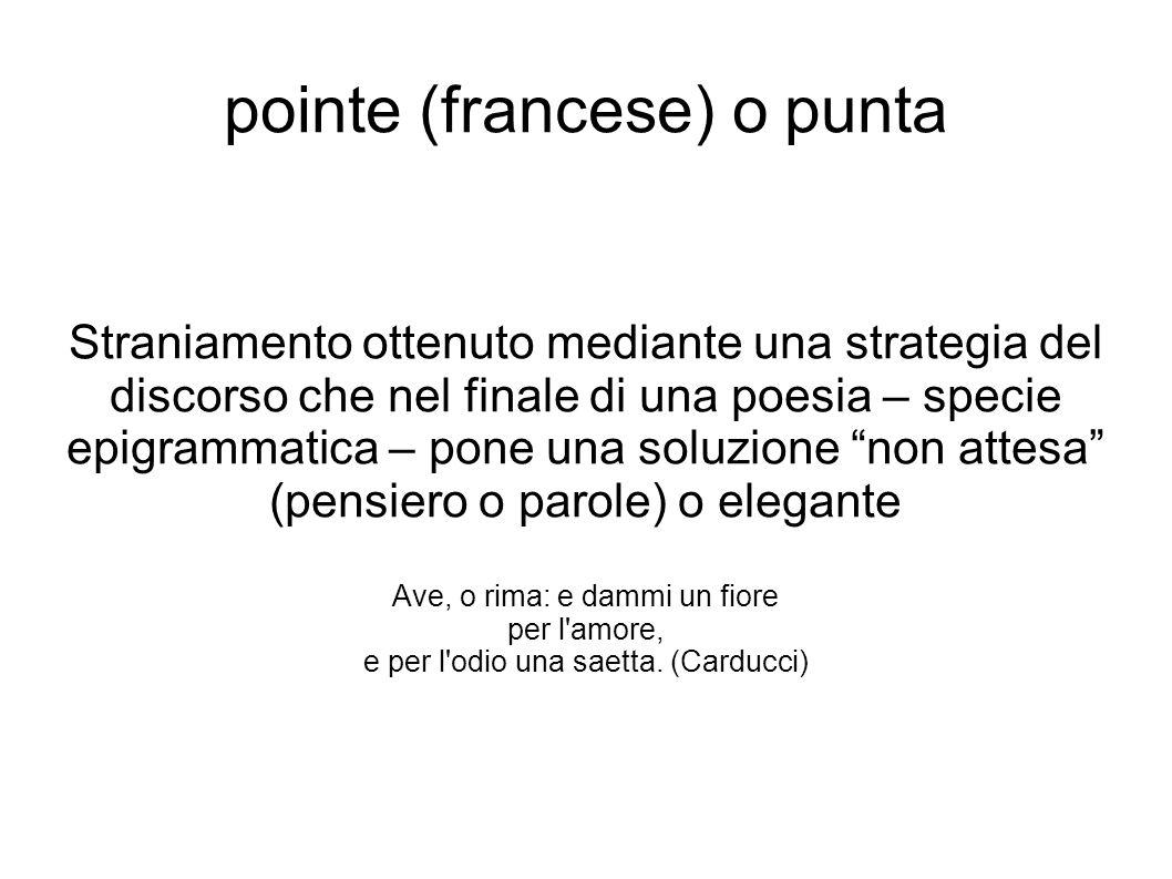 pointe (francese) o punta