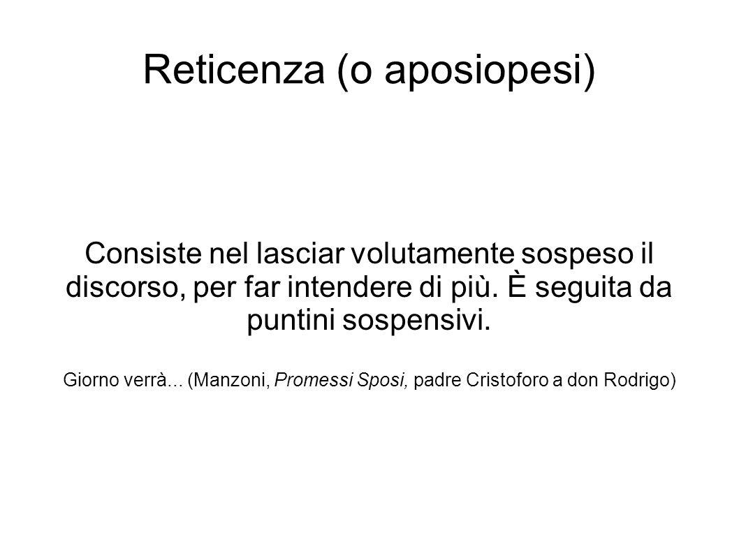 Reticenza (o aposiopesi)