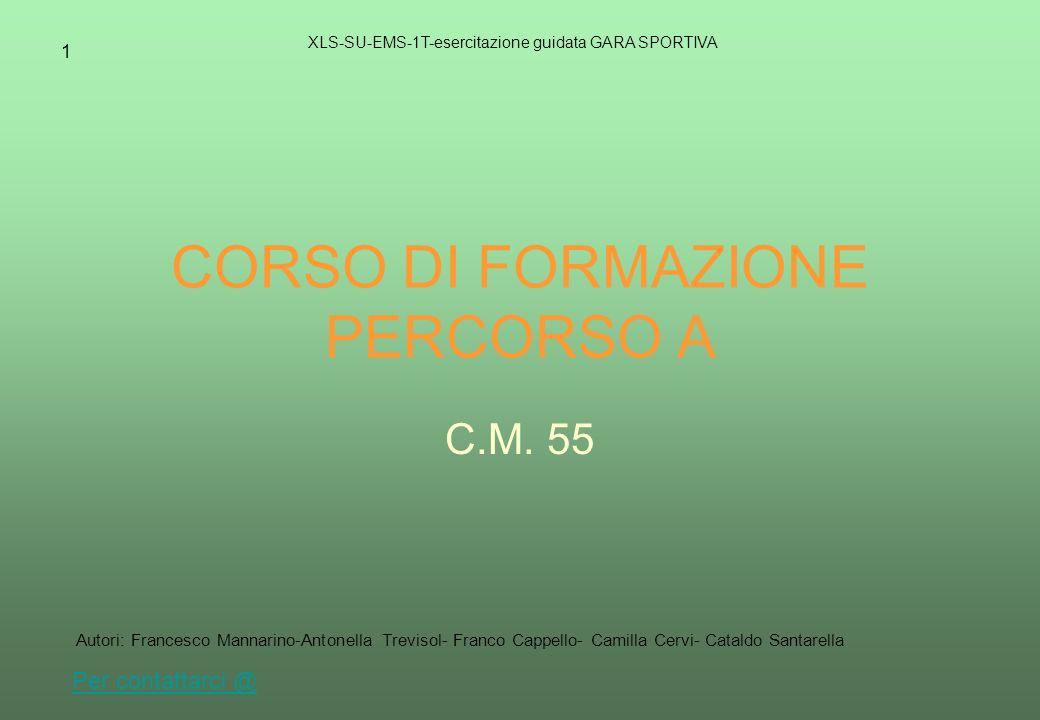 CORSO DI FORMAZIONE PERCORSO A