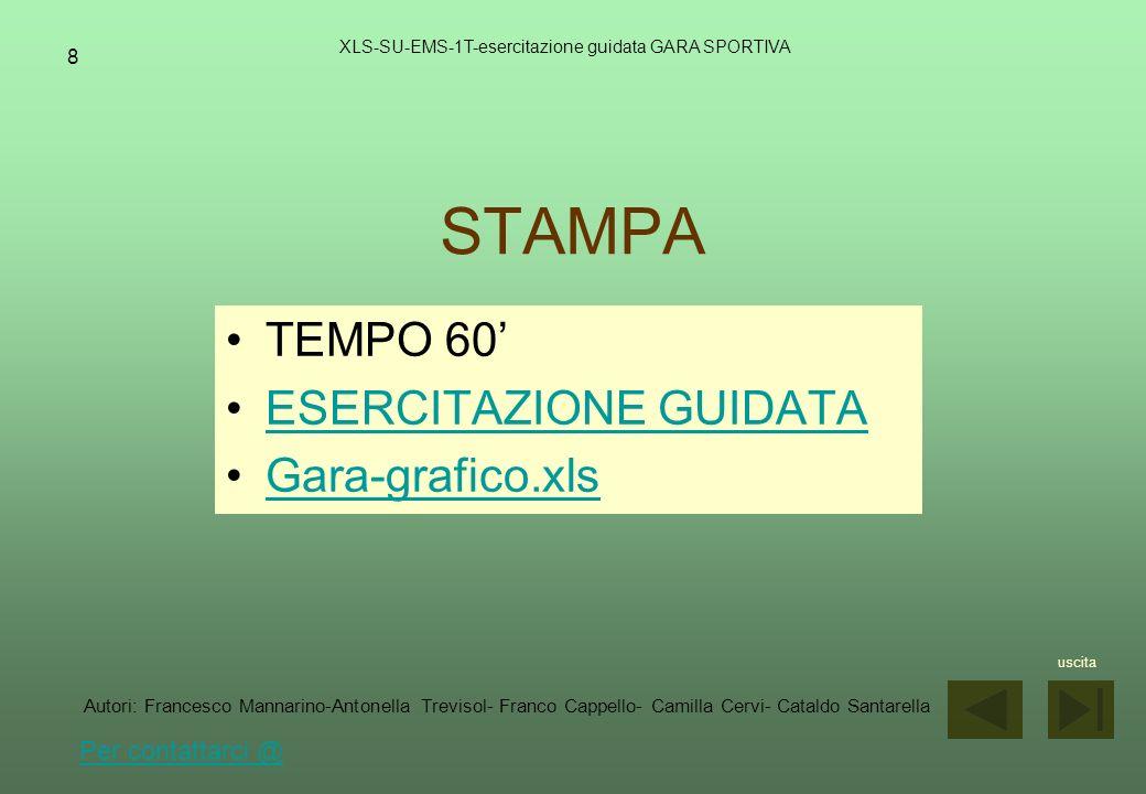 STAMPA TEMPO 60' ESERCITAZIONE GUIDATA Gara-grafico.xls