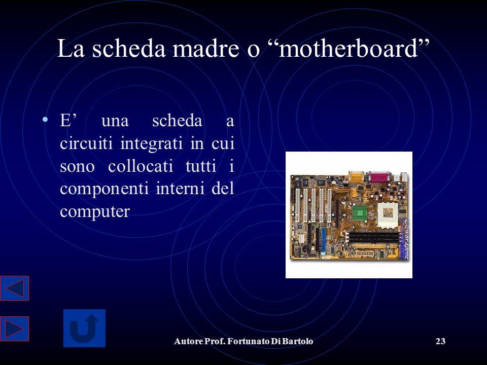 La scheda madre o motherboard