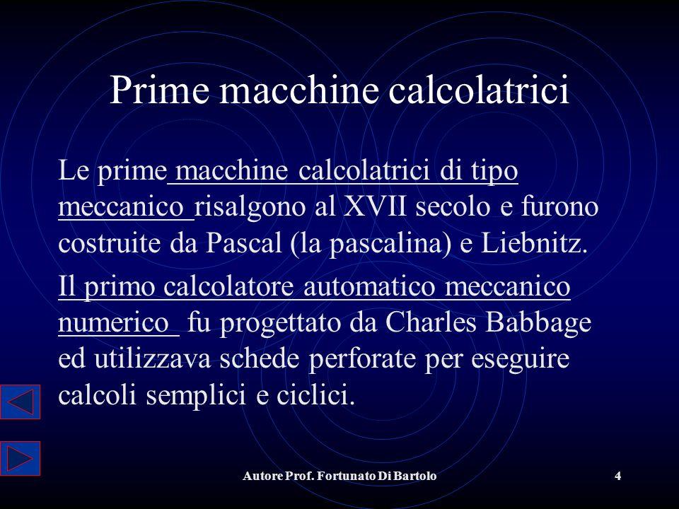Prime macchine calcolatrici
