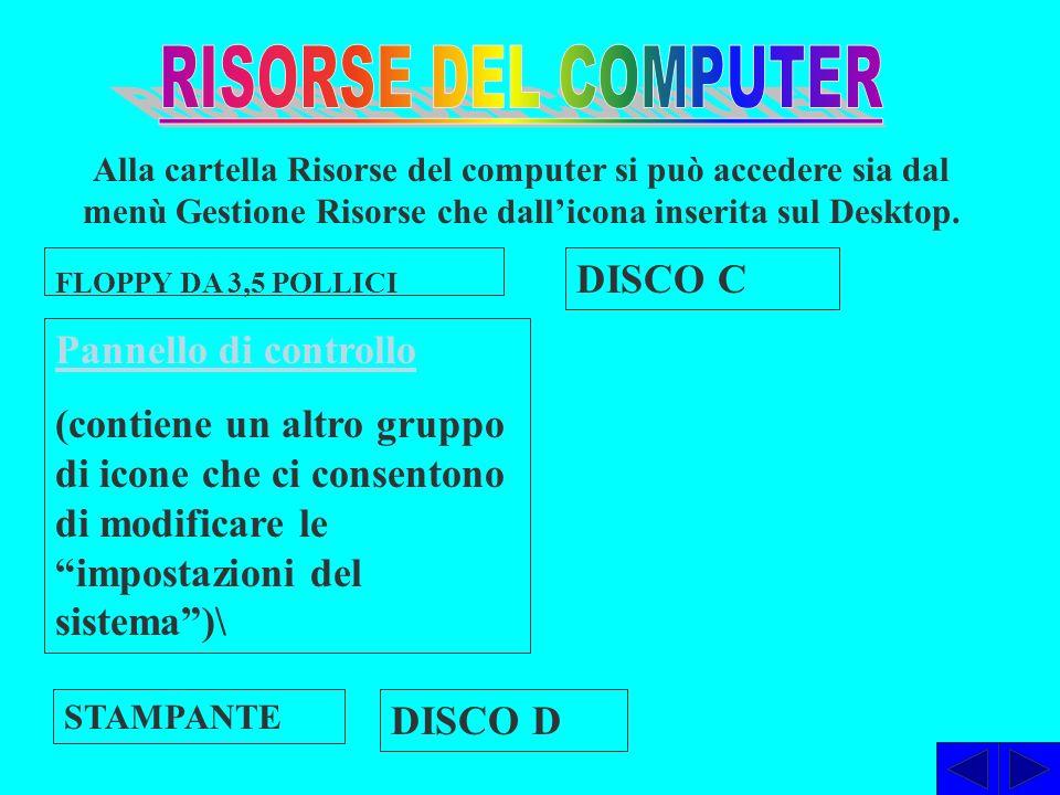 RISORSE DEL COMPUTER DISCO C Pannello di controllo