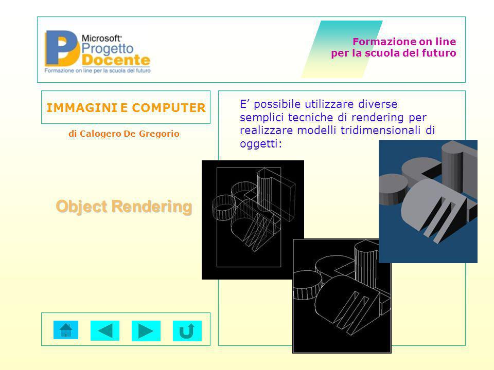 E' possibile utilizzare diverse semplici tecniche di rendering per realizzare modelli tridimensionali di oggetti: