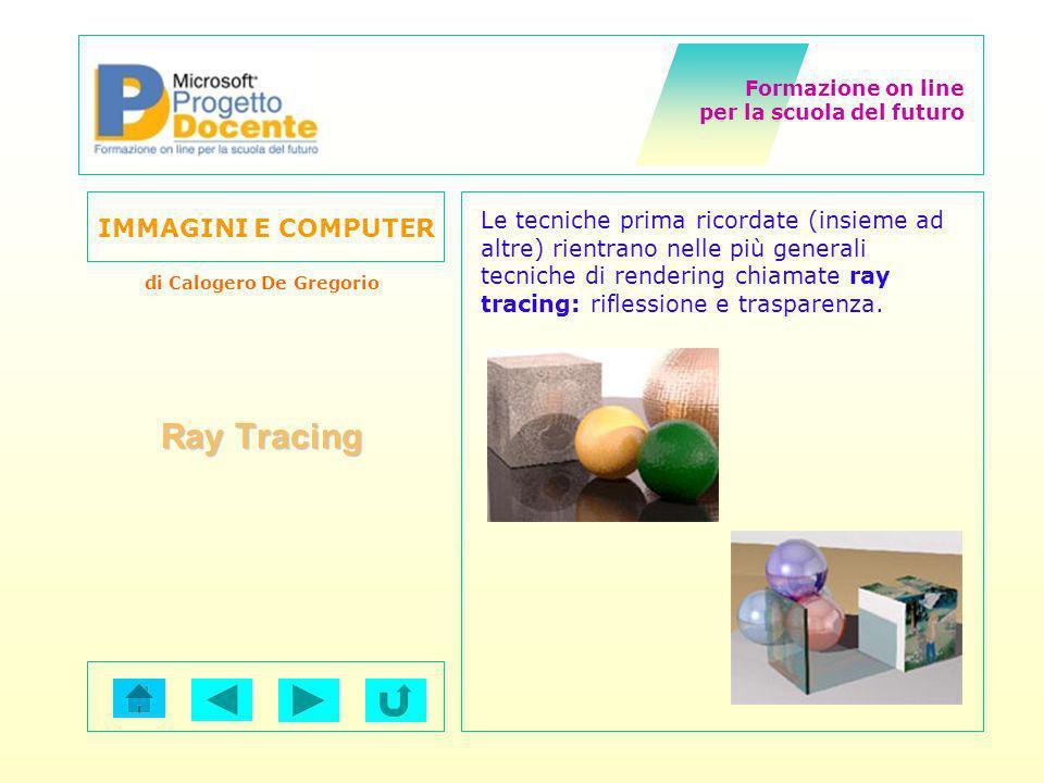 Le tecniche prima ricordate (insieme ad altre) rientrano nelle più generali tecniche di rendering chiamate ray tracing: riflessione e trasparenza.