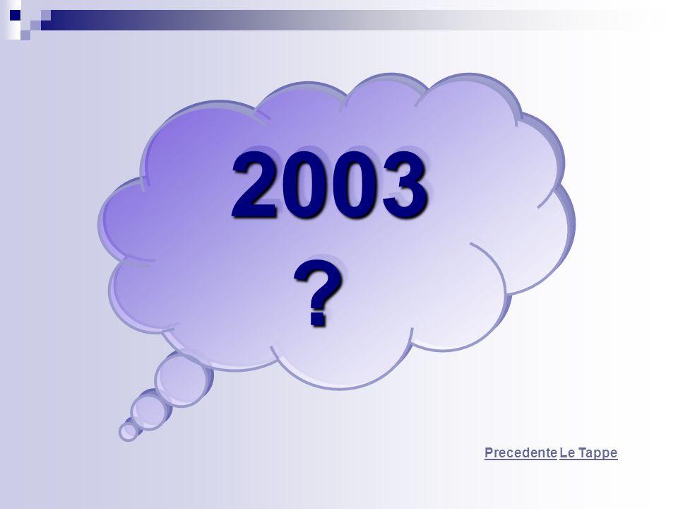 2003 Precedente Le Tappe