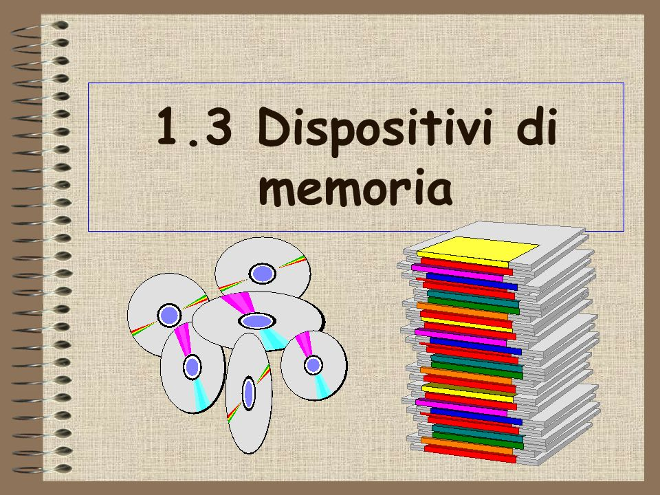 1.3 Dispositivi di memoria