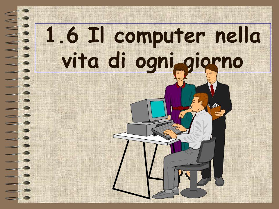 1.6 Il computer nella vita di ogni giorno