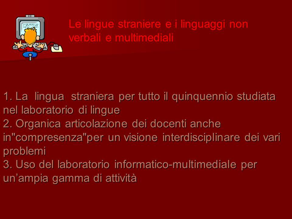 Le lingue straniere e i linguaggi non verbali e multimediali