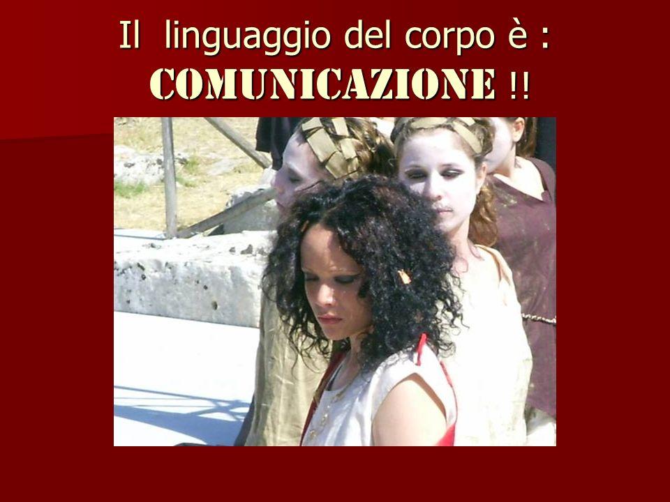 Il linguaggio del corpo è : comunicazione !!