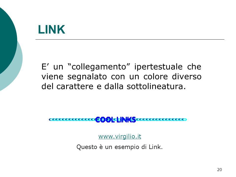 Questo è un esempio di Link.