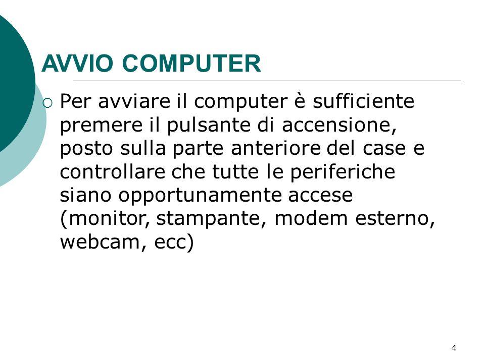 AVVIO COMPUTER
