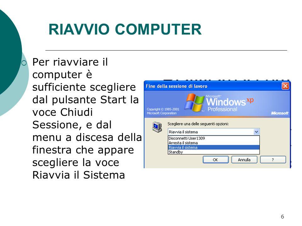RIAVVIO COMPUTER