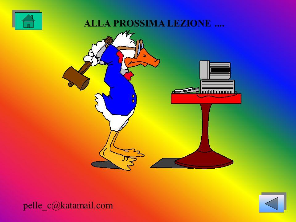 ALLA PROSSIMA LEZIONE .... pelle_c@katamail.com