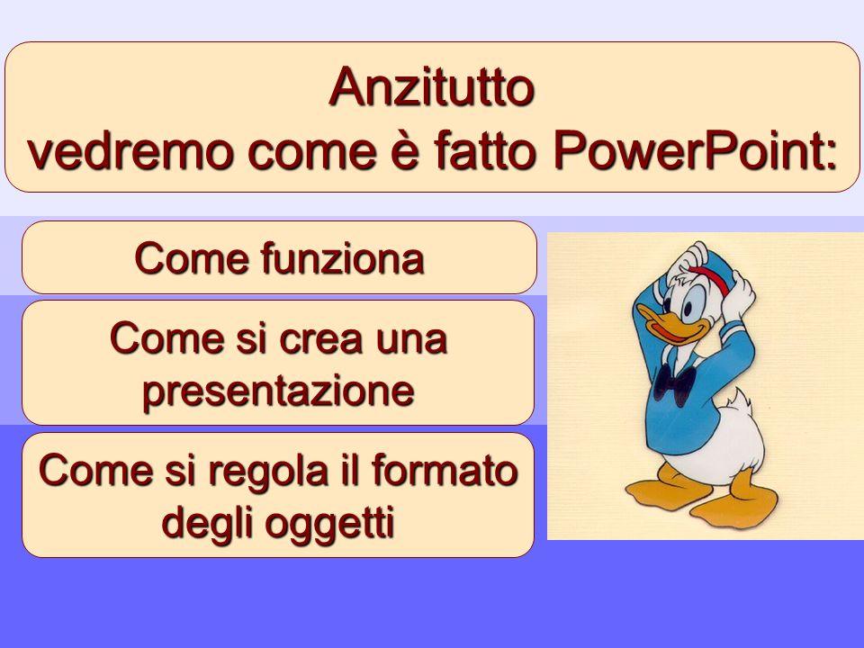 vedremo come è fatto PowerPoint: