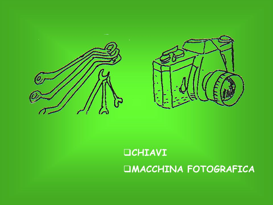 CHIAVI MACCHINA FOTOGRAFICA