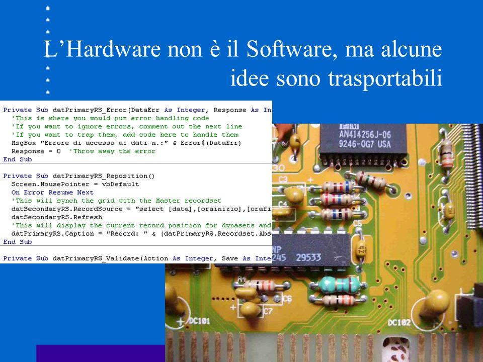 L'Hardware non è il Software, ma alcune idee sono trasportabili