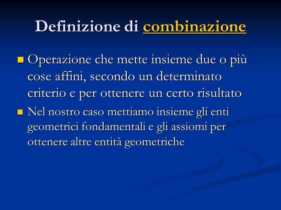 Definizione di combinazione