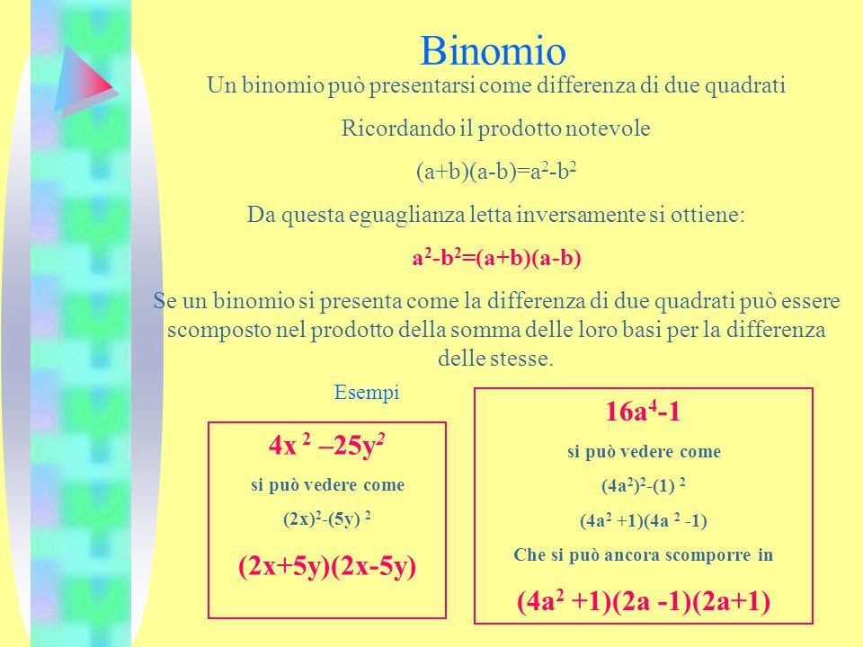 L algebra e la scomposizione ppt video online scaricare for Differenza di due quadrati