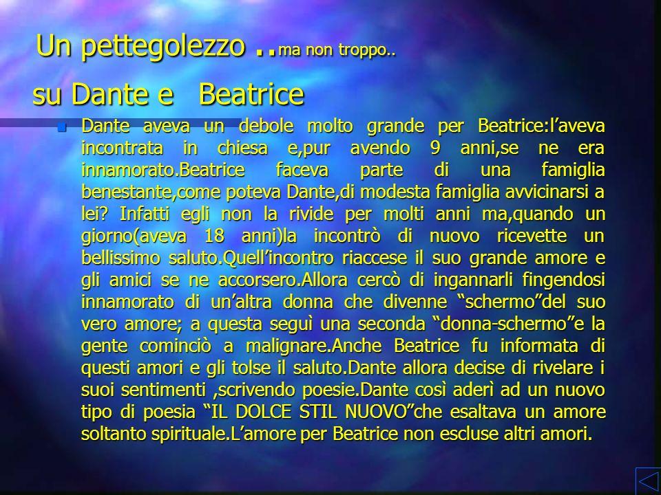 Un pettegolezzo ..ma non troppo.. su Dante e Beatrice