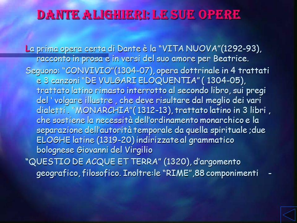 Dante Alighieri: le sue opere