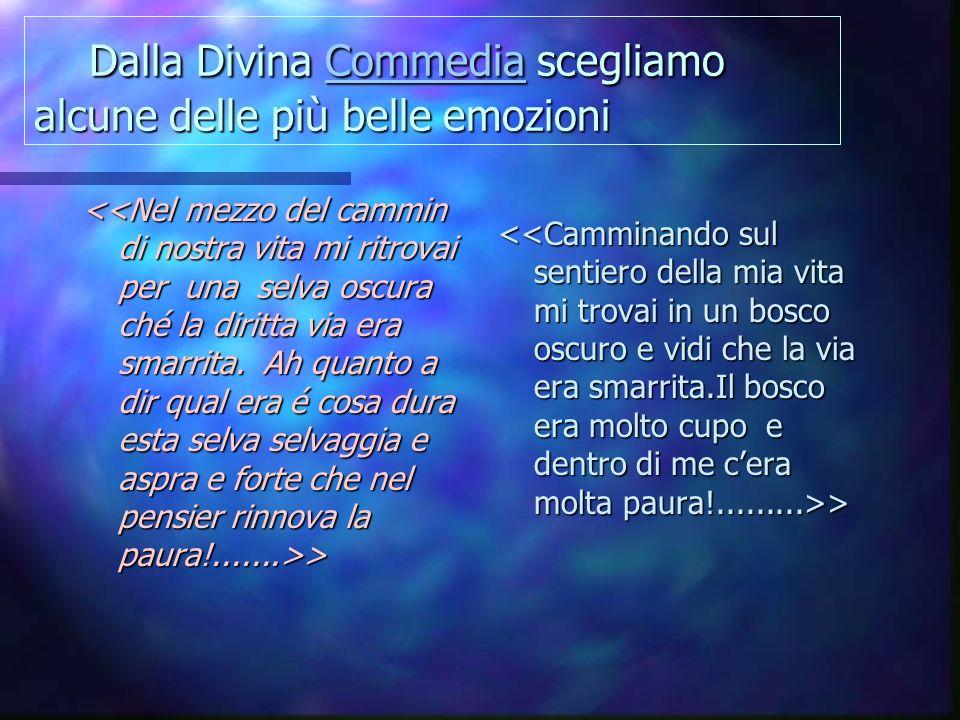 Dalla Divina Commedia scegliamo alcune delle più belle emozioni