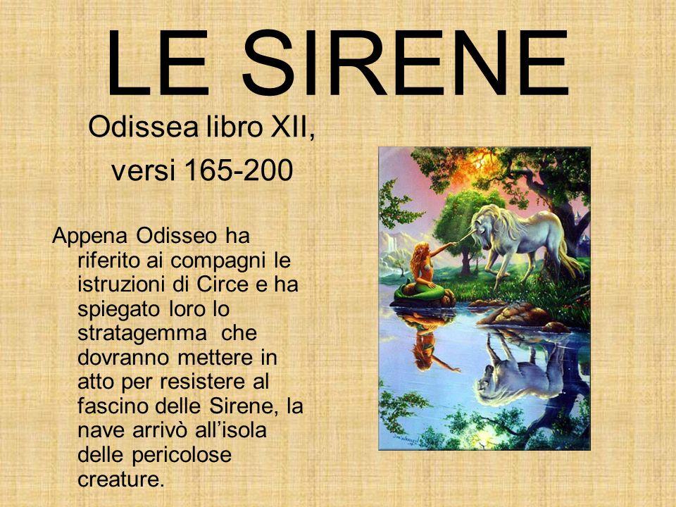 LE SIRENE Odissea libro XII, versi 165-200