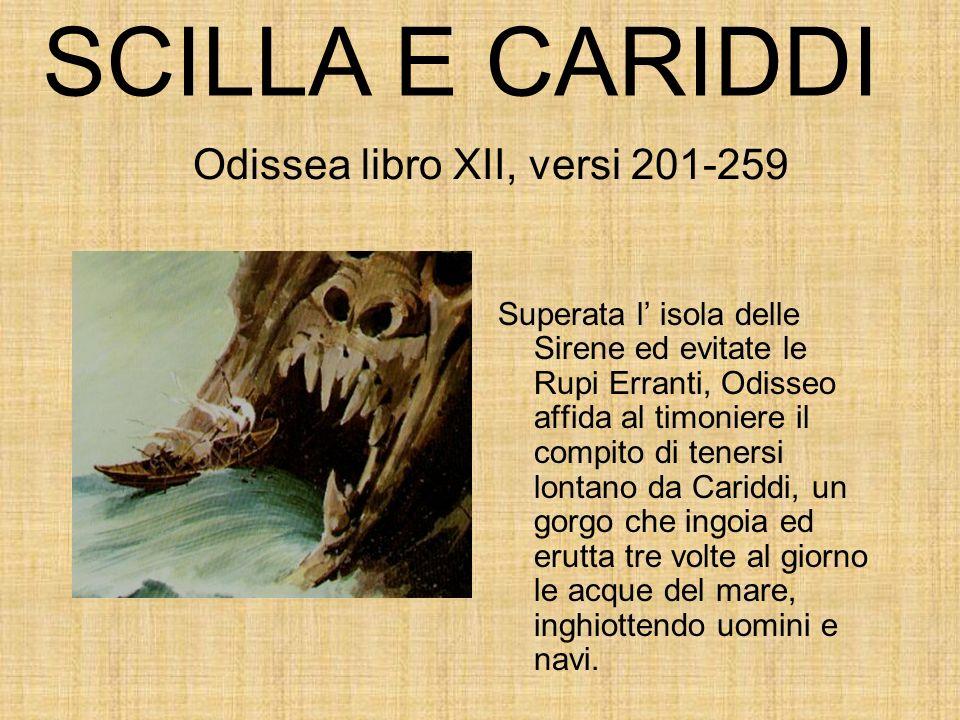 Odissea libro XII, versi 201-259