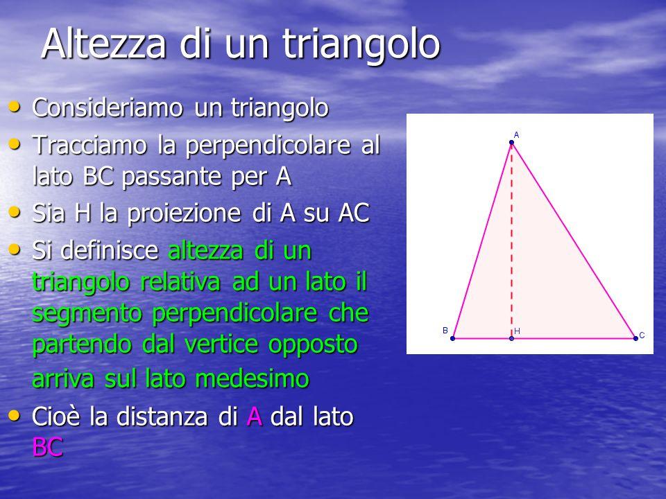 Altezza di un triangolo