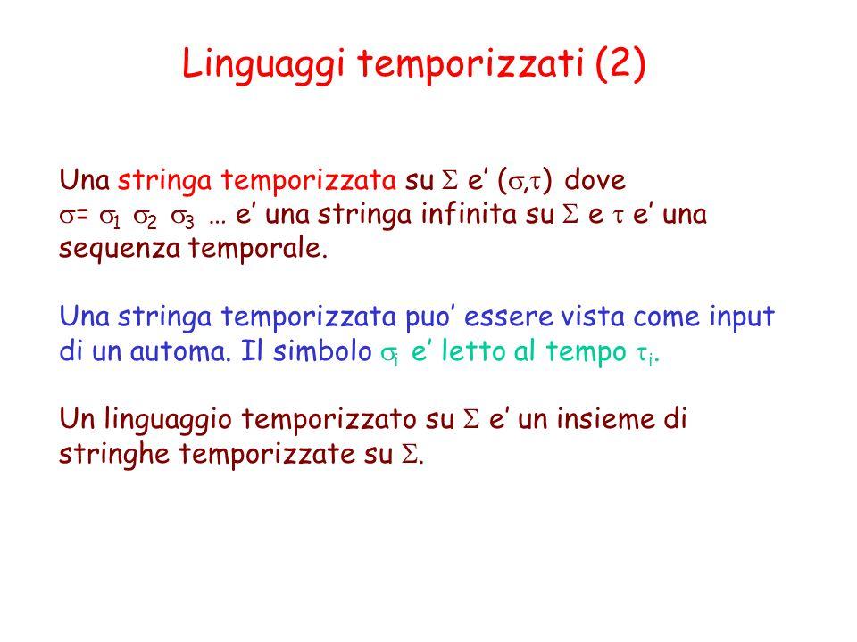 Linguaggi temporizzati (2)