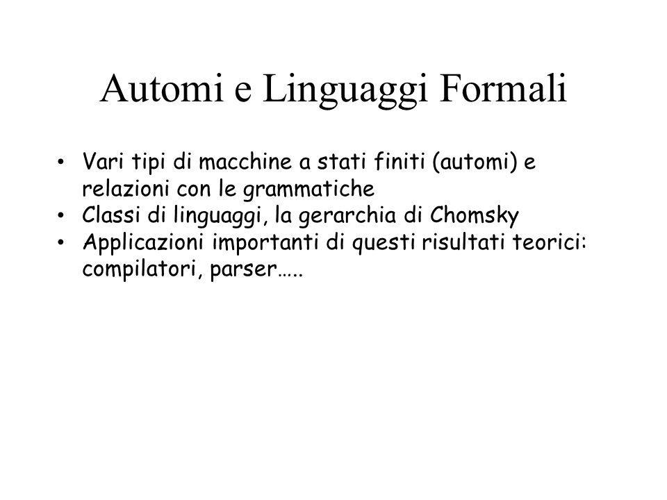Automi e Linguaggi Formali