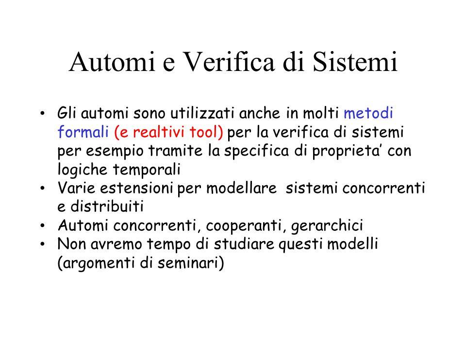 Automi e Verifica di Sistemi