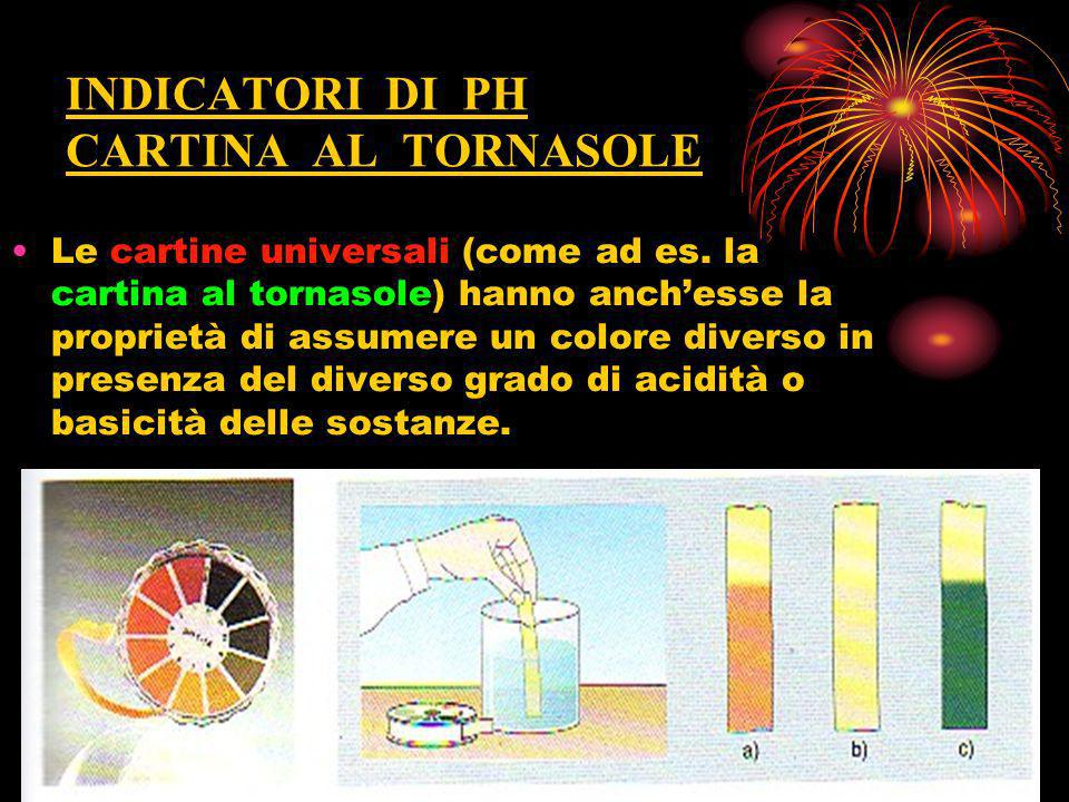 INDICATORI DI PH CARTINA AL TORNASOLE