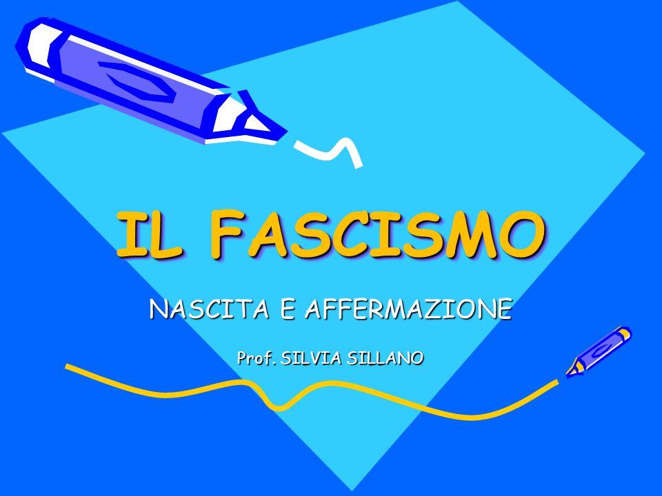 NASCITA E AFFERMAZIONE Prof. SILVIA SILLANO