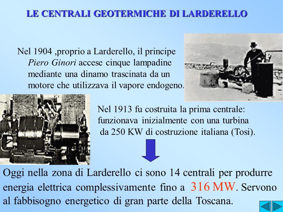 LE CENTRALI GEOTERMICHE DI LARDERELLO