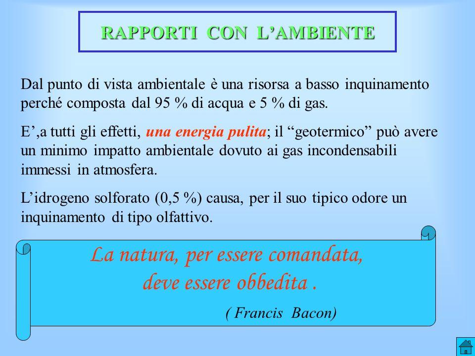 RAPPORTI CON L'AMBIENTE