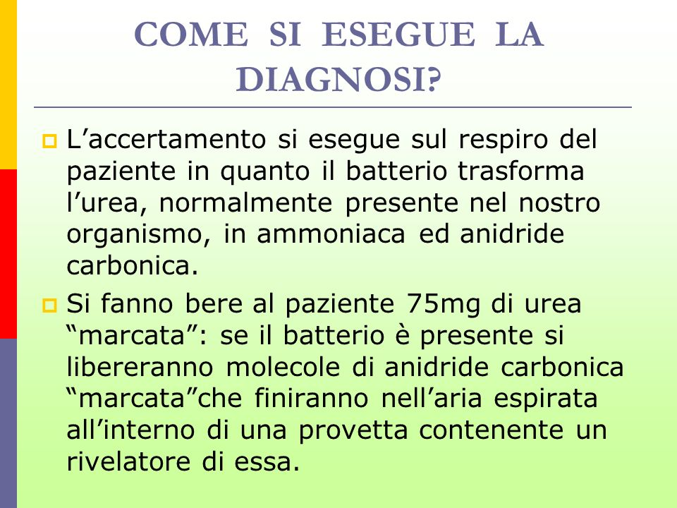 COME SI ESEGUE LA DIAGNOSI