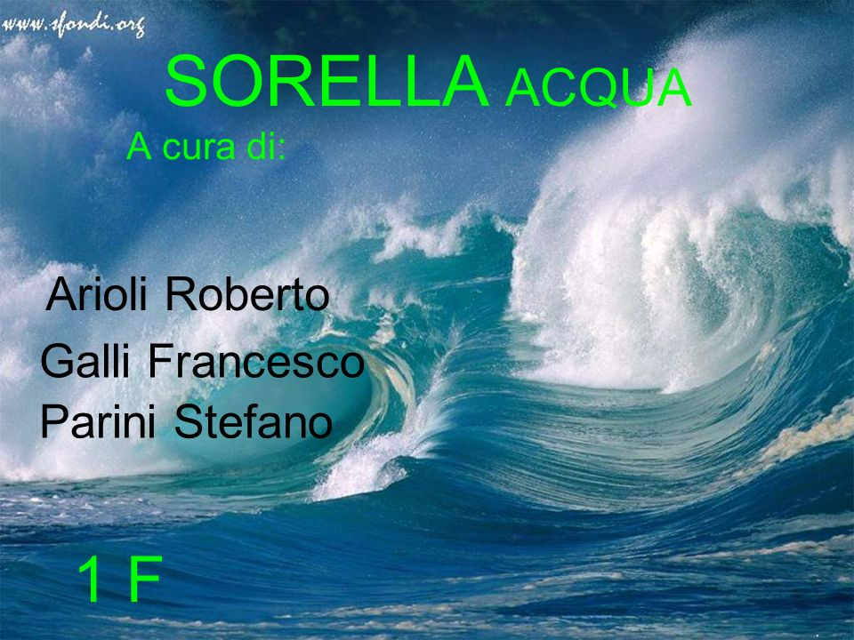 SORELLA ACQUA 1 F Arioli Roberto Galli Francesco Parini Stefano
