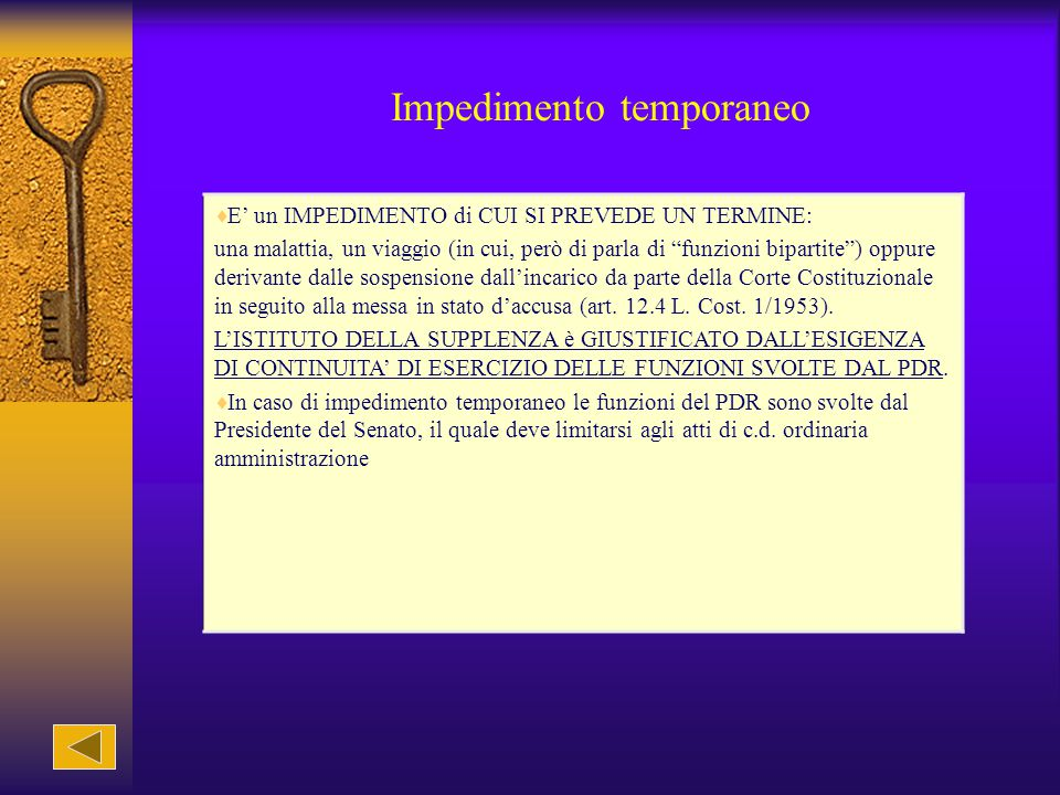 Impedimento temporaneo