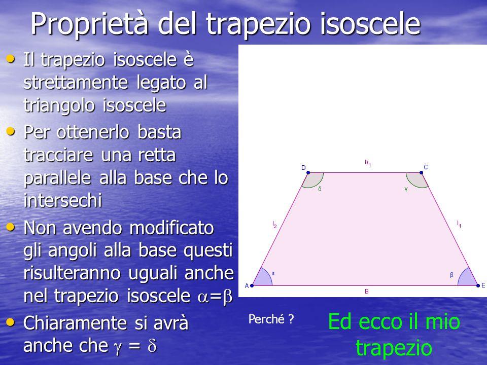 Proprietà del trapezio isoscele
