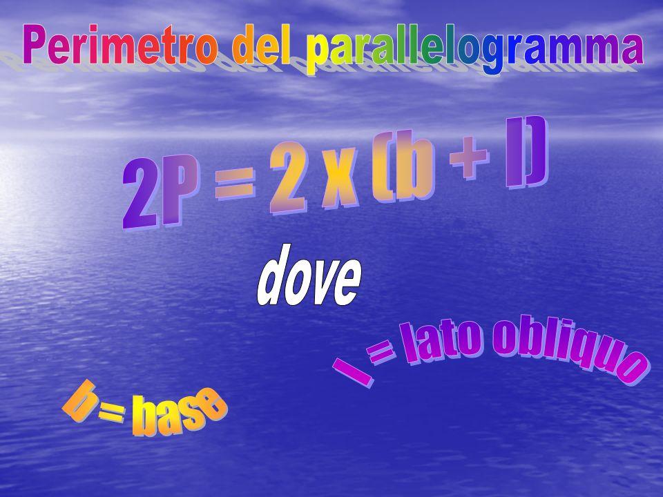 Perimetro del parallelogramma