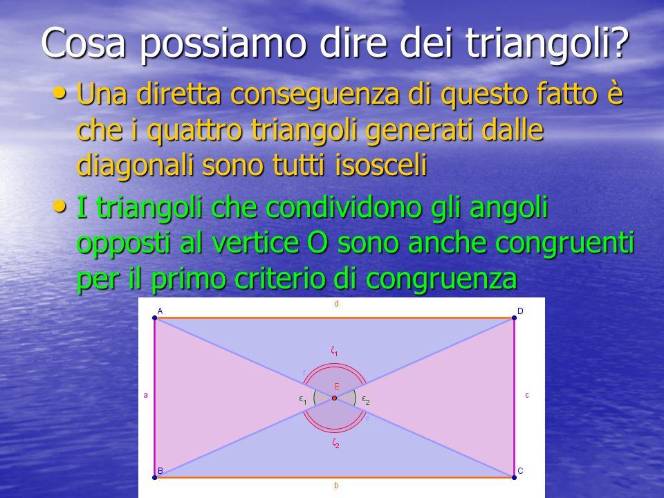 Cosa possiamo dire dei triangoli