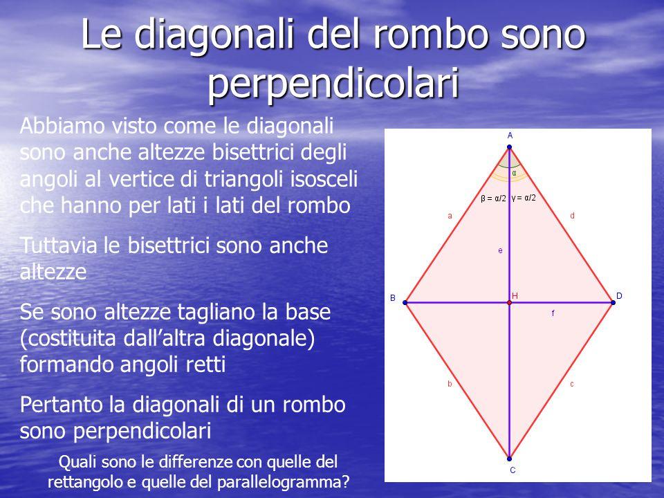 Le diagonali del rombo sono perpendicolari
