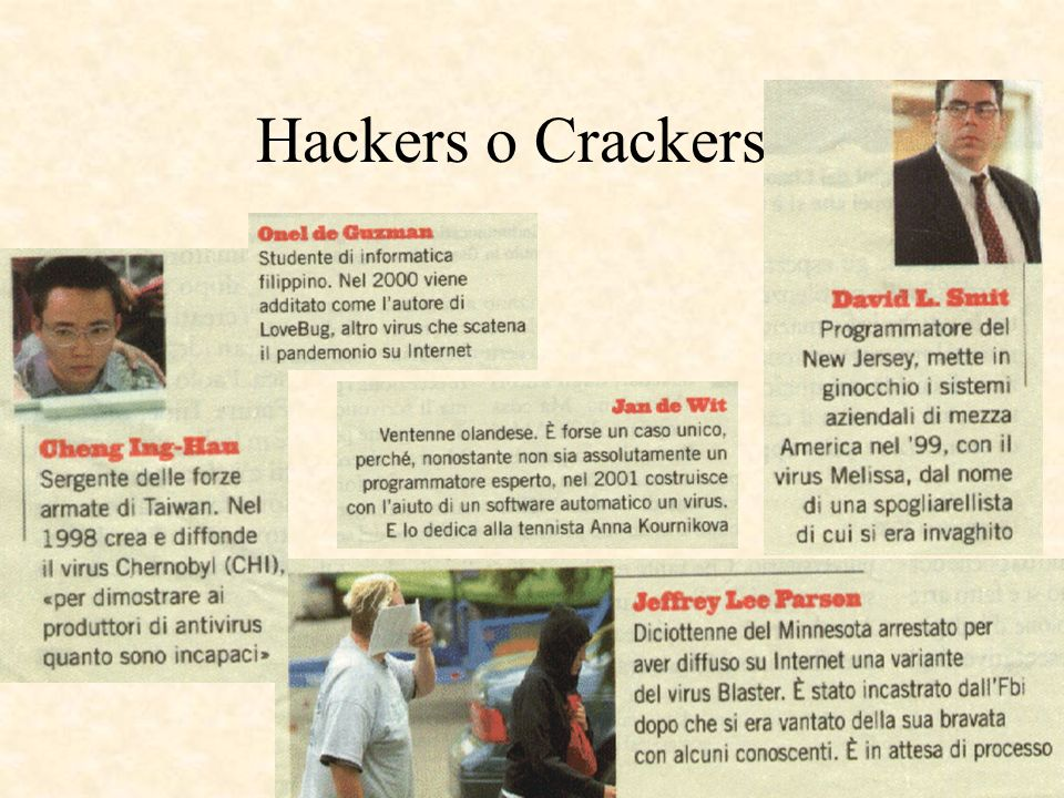 Hackers o Crackers