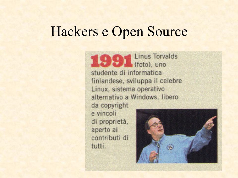 Hackers e Open Source