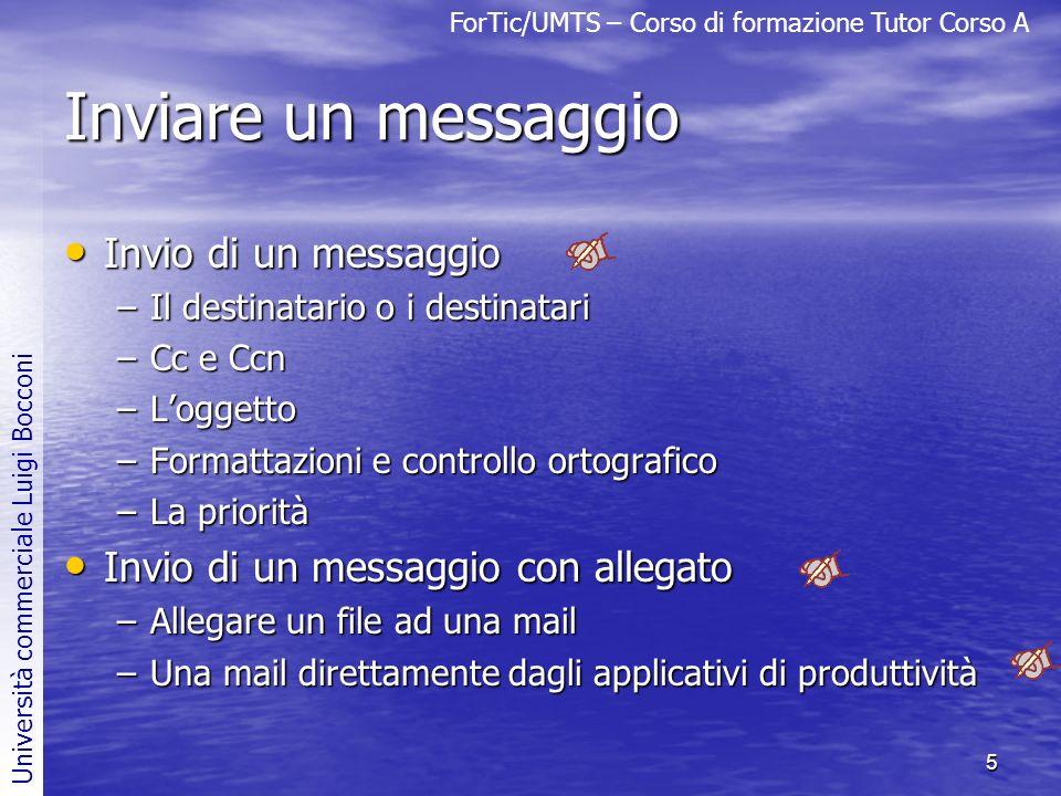 Inviare un messaggio Invio di un messaggio