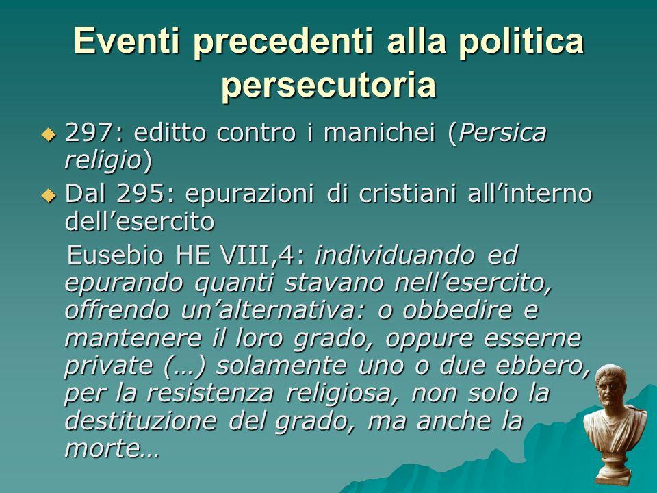 Eventi precedenti alla politica persecutoria