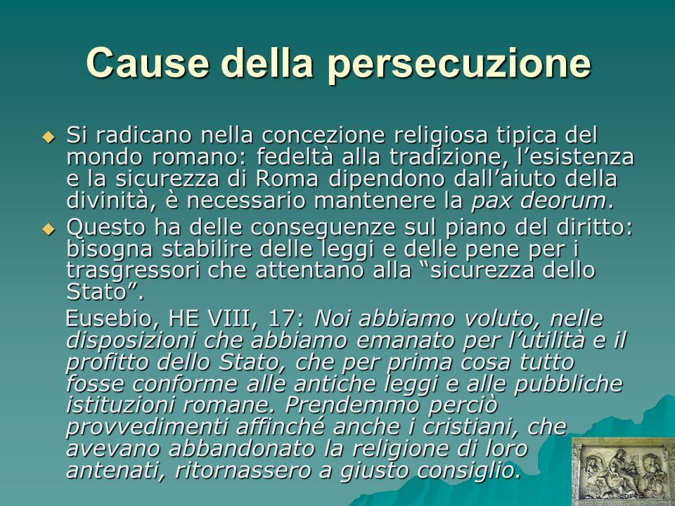 Cause della persecuzione