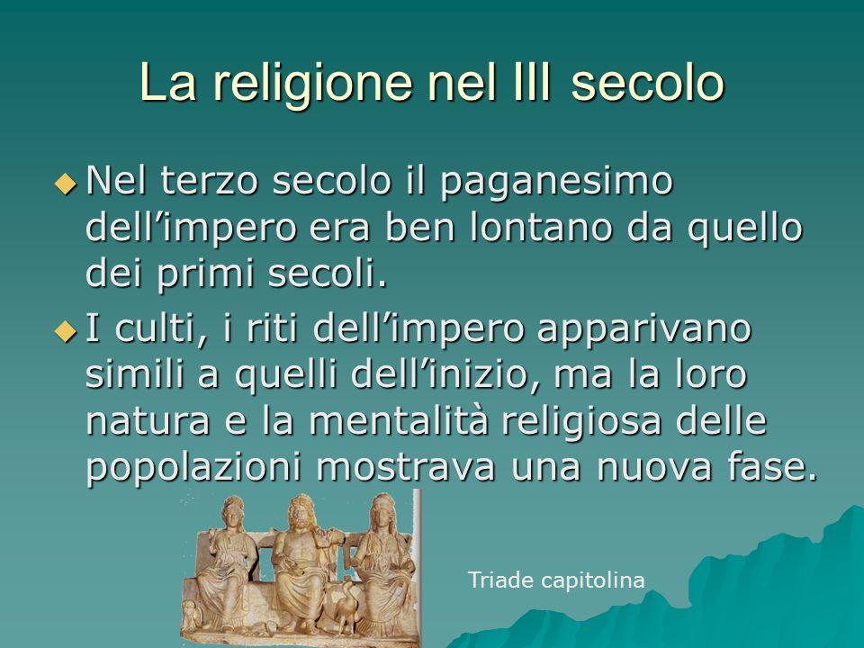 La religione nel III secolo